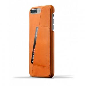 Купить Кожаный чехол с отделением для карт MUJJO Leather Wallet Case iPhone 8 Plus/7 Plus Tan (MUJJO-CS-071-TN)