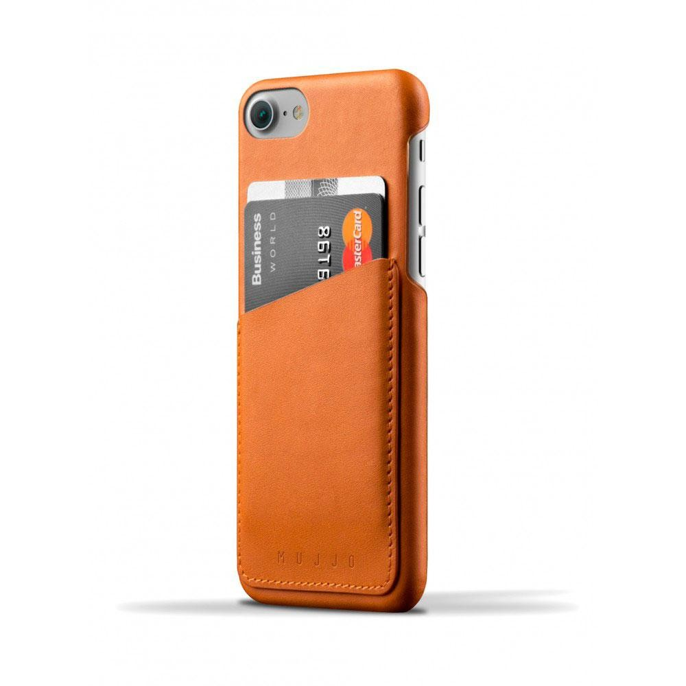 Кожаный чехол с отделением для карт MUJJO Leather Wallet Case iPhone 8/7 Tan (MUJJO-CS-070-TN)