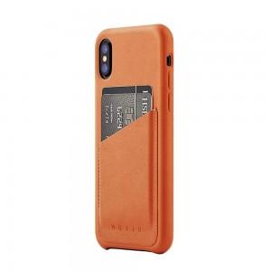 Купить Кожаный чехол с отделением для карт MUJJO Full Leather Wallet Case iPhone Xs Tan (MUJJO-CS-092-TN)