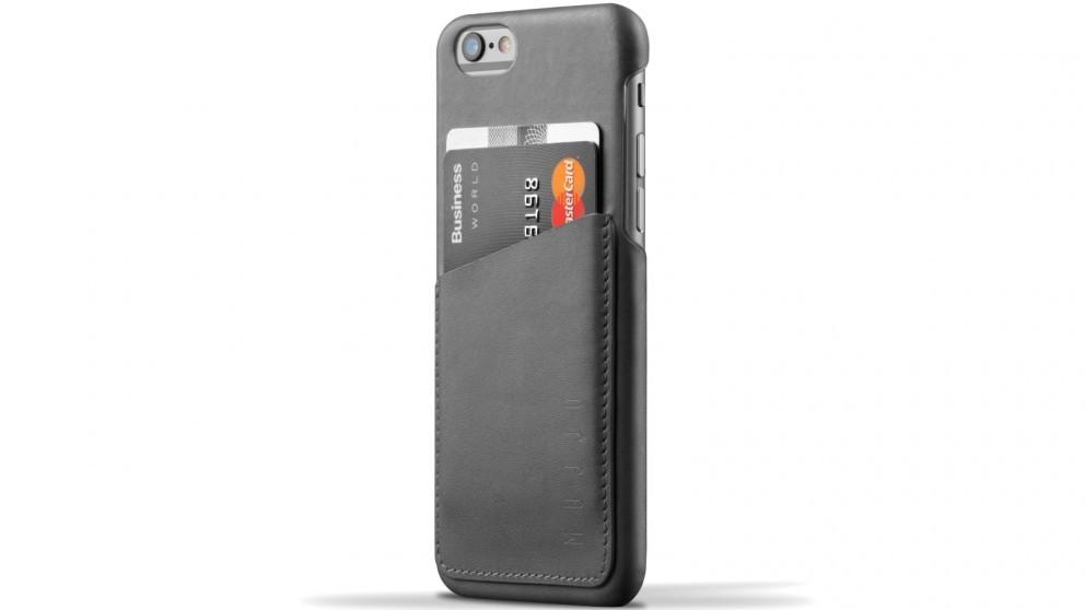 Кожаный чехол с отделением для карт MUJJO Leather Wallet Case iPhone 6/6s Gray (MUJJO-SL-082-GY)