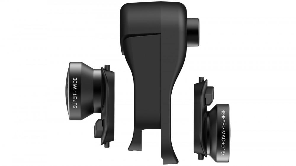 Объектив Olloclip iPhone XR Fisheye + Macro Essential and Super-Wide Essential (OC-0000297-EU)