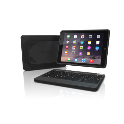 Чехол-клавиатура ZAGG Rugged Book and Keyboard-Apple iPad Air 2-Black Case-UK Black (ID6RGK-BBU)