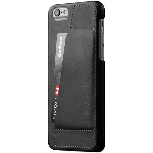 Кожаный чехол с отделением для карт MUJJO Leather Wallet Case 80° iPhone 6/6s Black (MUJJO-SL-083-BK)
