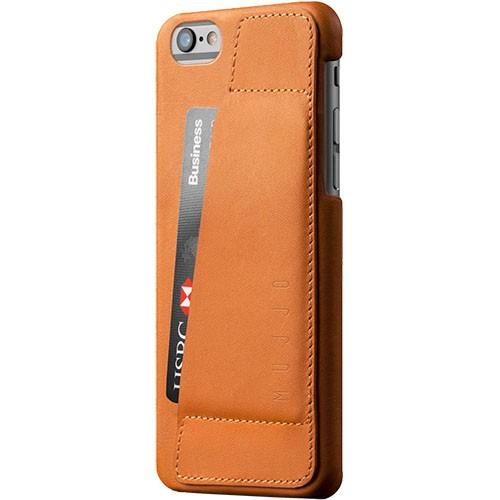 Кожаный чехол с отделением для карт MUJJO Leather Wallet Case 80° iPhone 6/6s Tan (MUJJO-SL-083-TN)