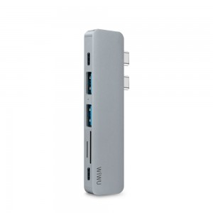 Купить USB-C Хаб WIWU T8 Type-C Hub  Dual C Gold