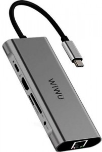 Купить USB-C Хаб WIWU Apollo A931HRT Grey