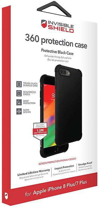 Защитное стекло + чехол InvisibleShield 360 Protection Black Case - Apple iPhone 8/7 Plus Black (202002464)
