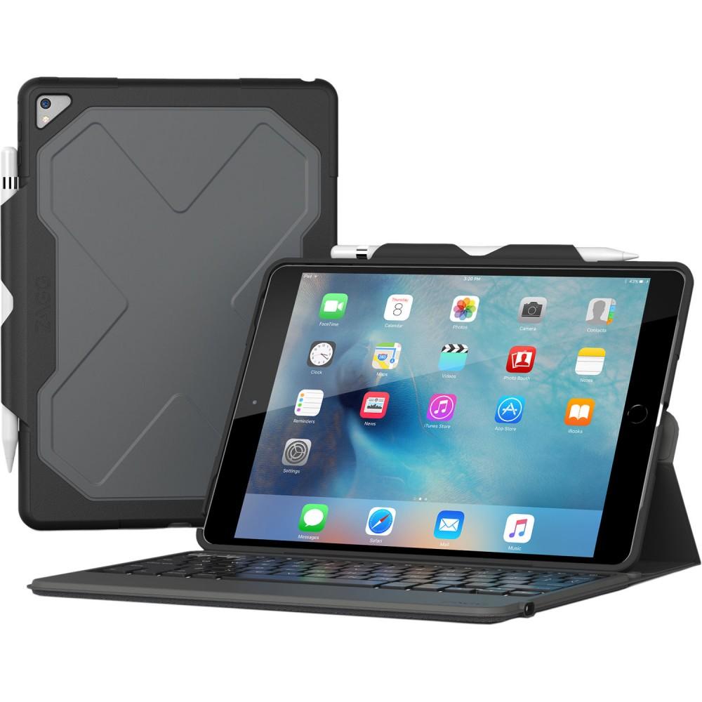 Чехол-клавиатура ZAGG Rugged Messenger Folio-Apple iPad Pro 10.5-Black Case-7 Color Backlit-US/UK English Black (ID9RMK-BB0)