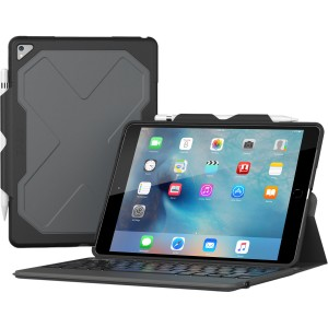 Купить Чехол-клавиатура ZAGG Rugged Messenger Folio-Apple iPad Pro 10.5-Black Case-7 Color Backlit-US/UK English Black (ID9RMK-BB0)
